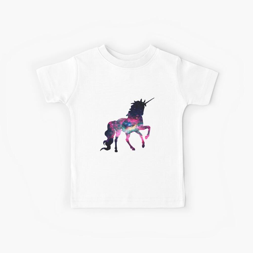 Galaxy in einem Einhorn Kinder T-Shirt