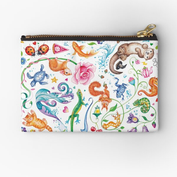 Happy dreams by Maria Tiqwah Zipper Pouch