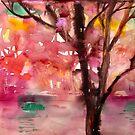 rosa landschaft von Marianna Tankelevich