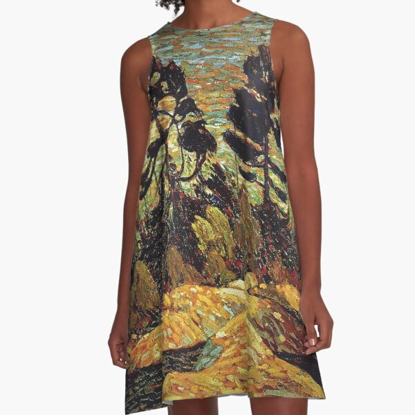 Tom Thomson - Summer Shore Georgian Bay A-Line Dress
