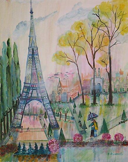Paris Springtime Walk by eoconnor
