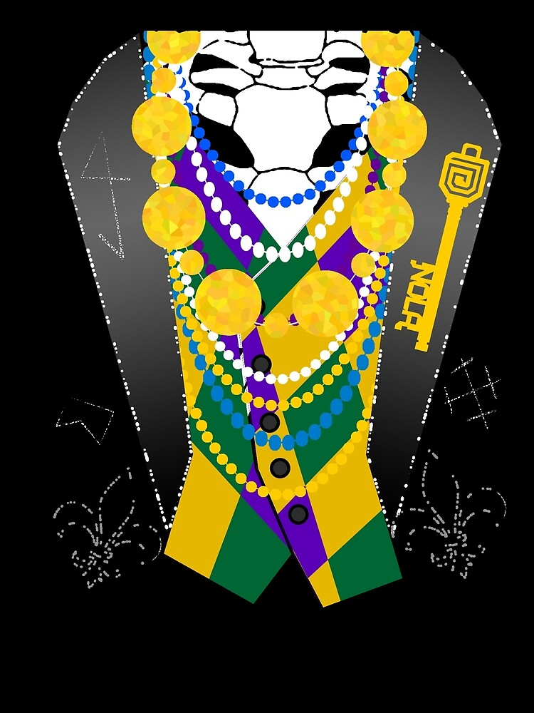 Darsana Prime Baron Samedi Mardi Gras Tuxedo Shirt by bluevoodoo