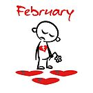 February Broken Hearted Sad Valentine Color by TinyStarAmerica