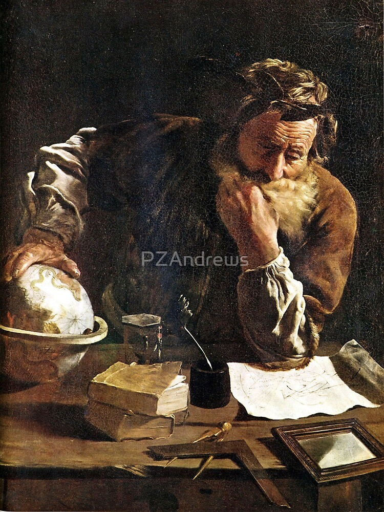 Archimedes Thoughtful (Domenico Fetti - 1620) by PZAndrews