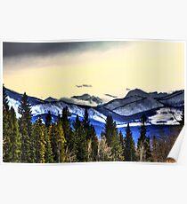 Flathead Mountain Range Poster