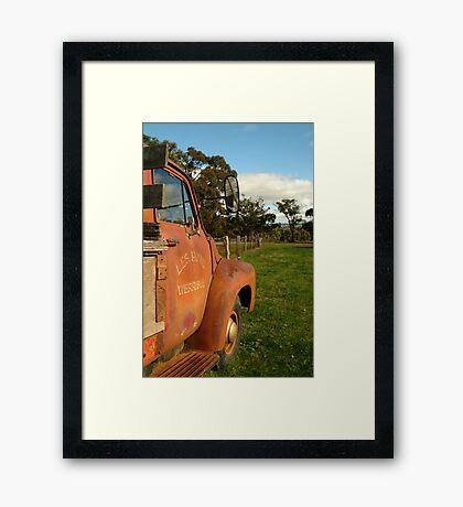 Bedford Truck, Brisbane Ranges Framed Print