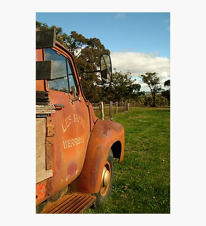 Bedford Truck, Brisbane Ranges Photographic Print