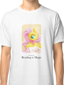 Reading is Magic: Fluttershy Classic T-Shirt