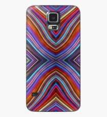 Wild Wavy X Lines 57 Case/Skin for Samsung Galaxy