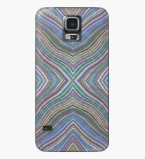 Wild Wavy X Lines 61 Case/Skin for Samsung Galaxy