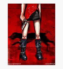 Red Dress & Zombie Dog Photographic Print