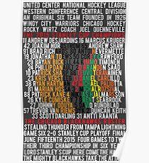 Blackhawks 2015 Championship Typographic Design Poster Style Poster