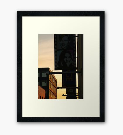 Back Alley,Movie Theatre Banners,Geelong Framed Print