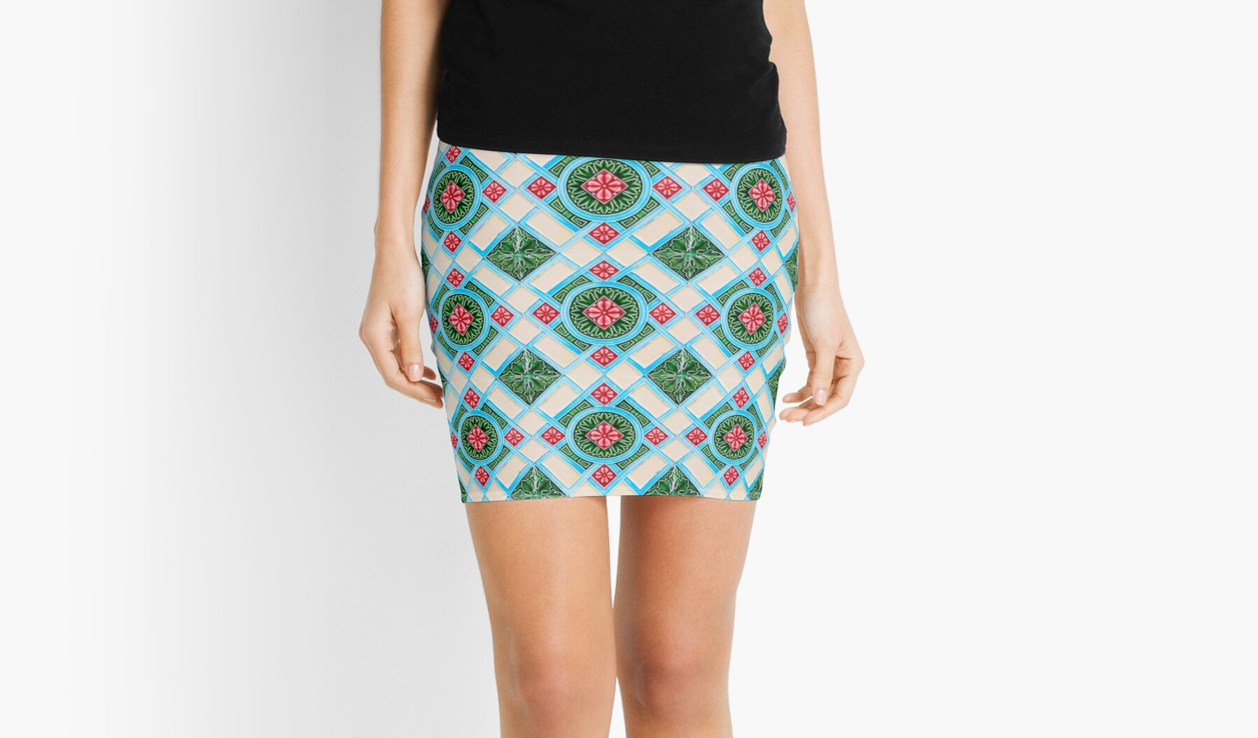 Quot Peranakan Floral Tile Quot Mini Skirts By Ernstc Redbubble