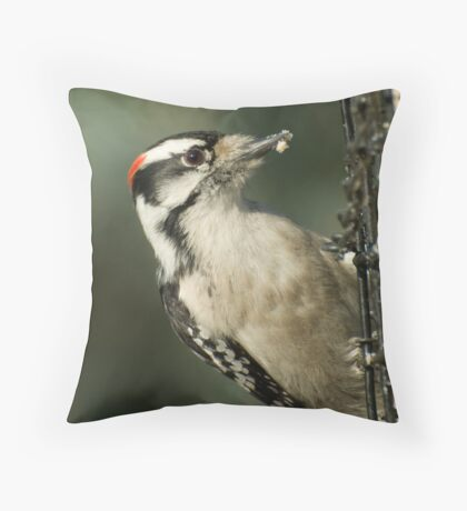 At the Feeder  Throw Pillow
