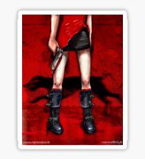 Red Dress & Zombie Dog Sticker