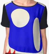 Red white and blue Chiffon Top