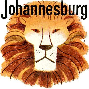 Johannesburg Lion Vintage Travel Decal by hilda74