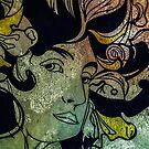 Mucha appreciated distressed art by Deana Greenfield