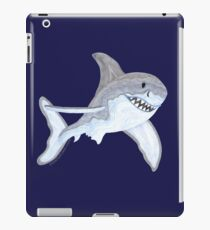 Great White Shark Fanciful Aquatic Watercolor iPad Case/Skin