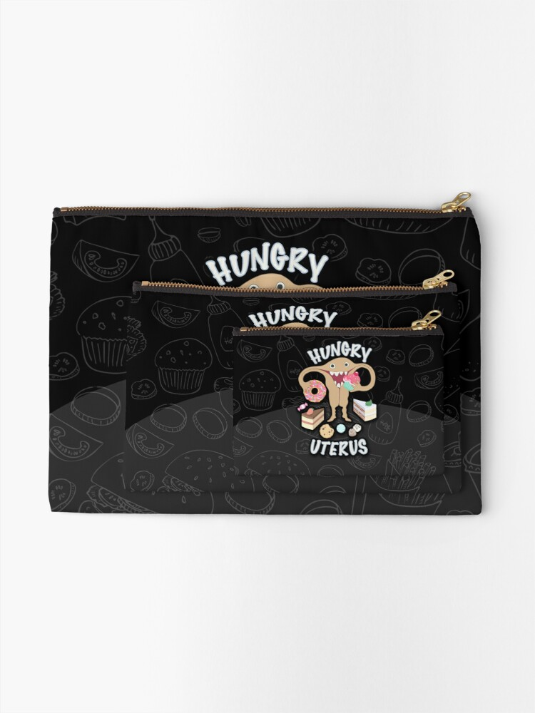 Alternate view of Hungry Uterus Sweet Zipper Pouch