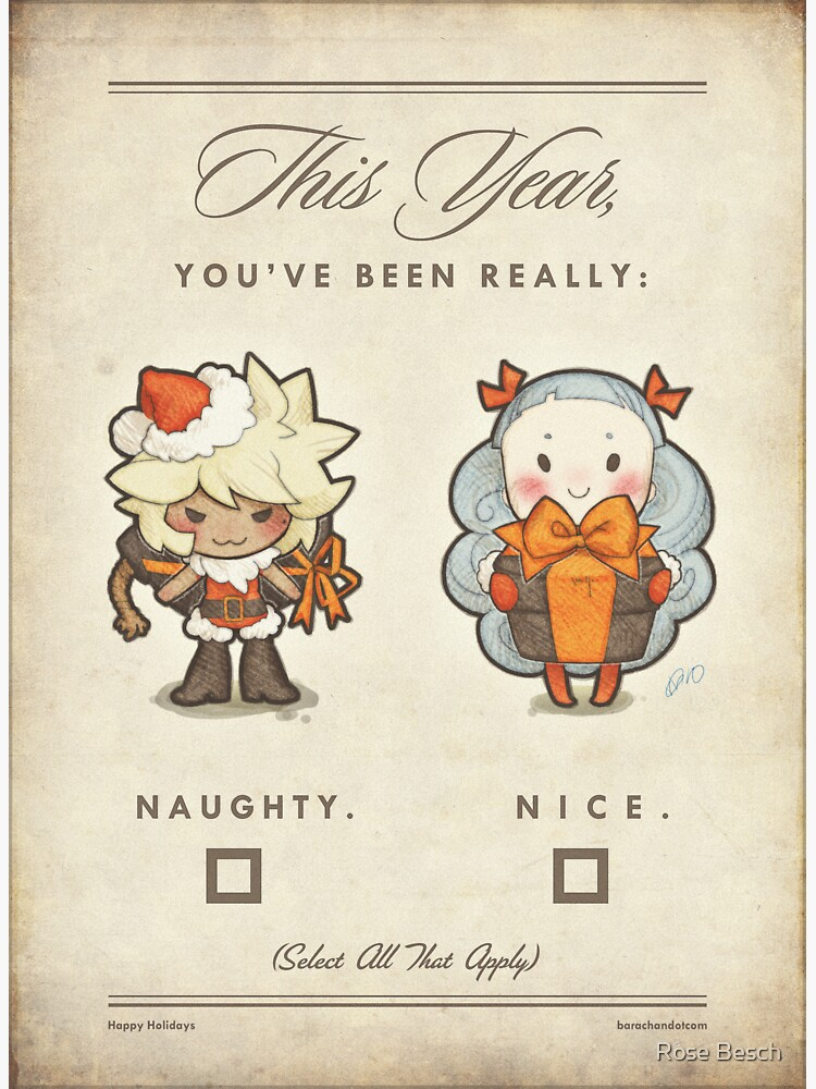 unabashed christmas card by barachan