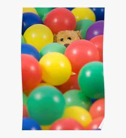 Ted overwhelmed in the ball pool Poster