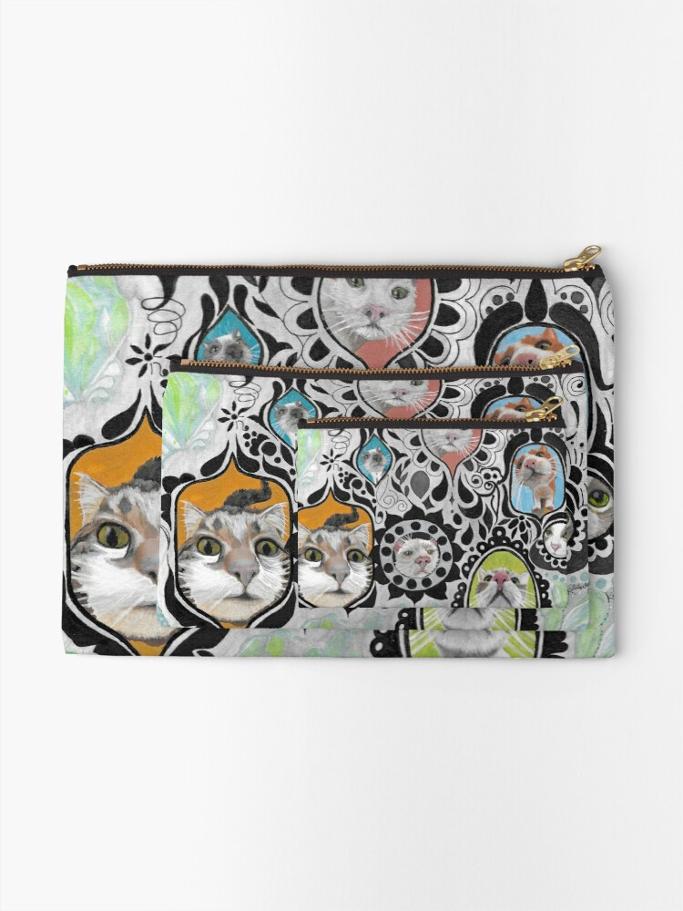 Alternate view of Mirror Cats Zipper Pouch