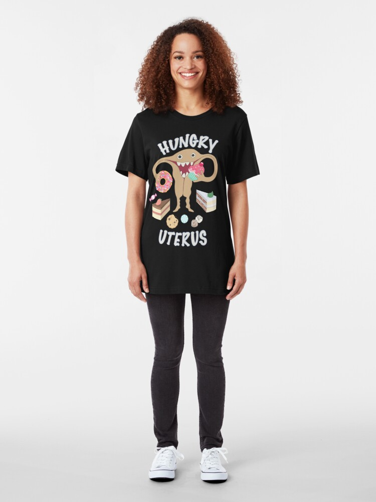 Alternate view of Hungry Uterus Sweet Tooth Slim Fit T-Shirt