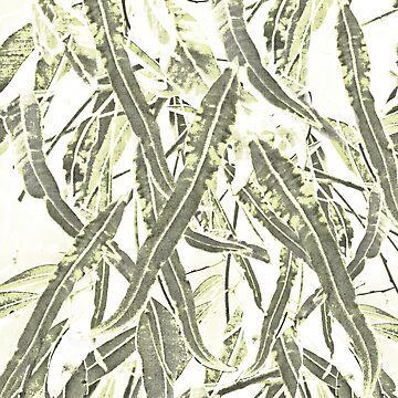 Gum leaves pattern muted greens. by Ohlordi