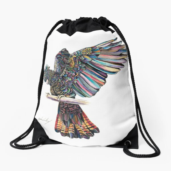 All a Flutter Drawstring Bag