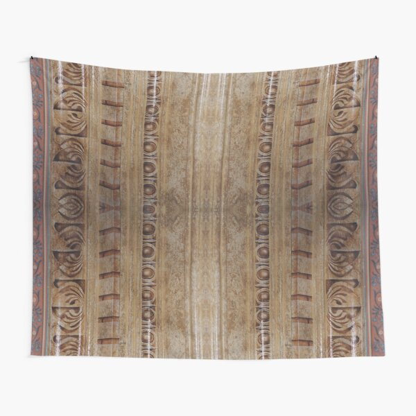 #design, #pattern, #antique, #wood, #old, #decoration, #ornate, #architecture, #art Tapestry