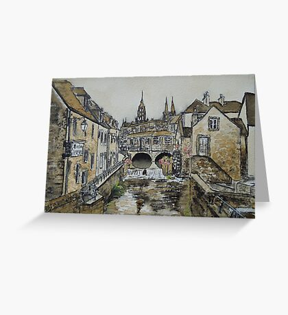 Bayeux (in coffee) Greeting Card