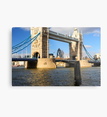 Tower Bridge and Gherkin London UK Metal Print