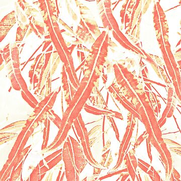 Gum leaves pattern living coral by Ohlordi