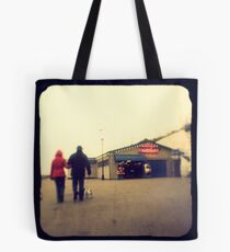 A walk along the seafront Tote Bag