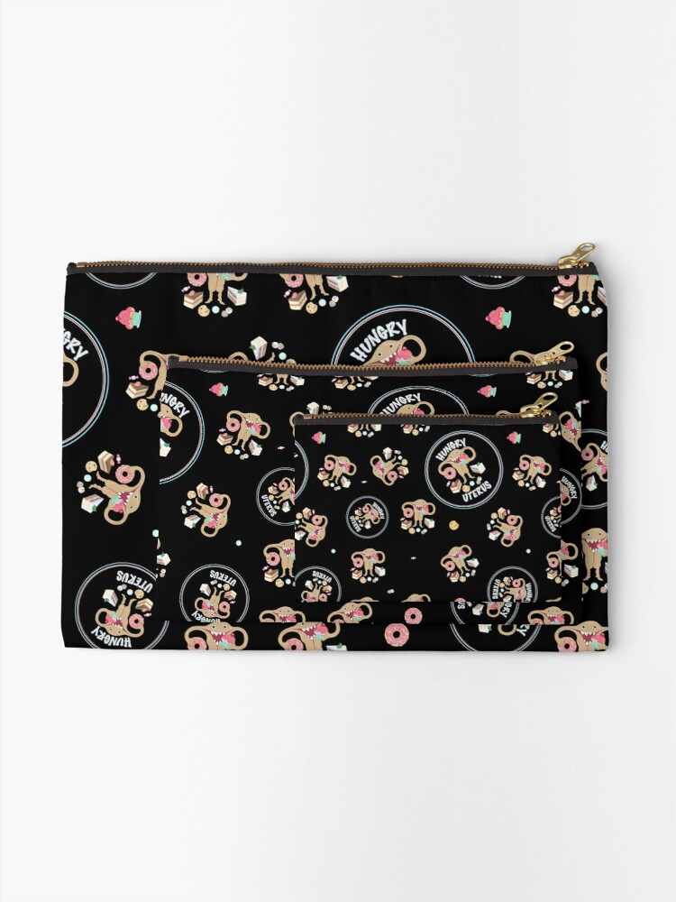 Alternate view of Hungry Uterus Sweet! Zipper Pouch
