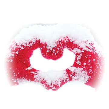Snow Love Heart Red Beautiful Made by Grampus