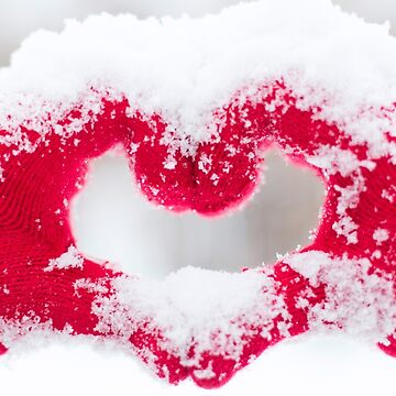 Photo Snow Love Heart Red Beautiful Made by Grampus