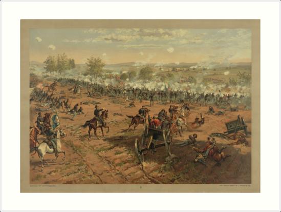 Battle of Gettysburg by Thure de Thulstrup (1887) by allhistory