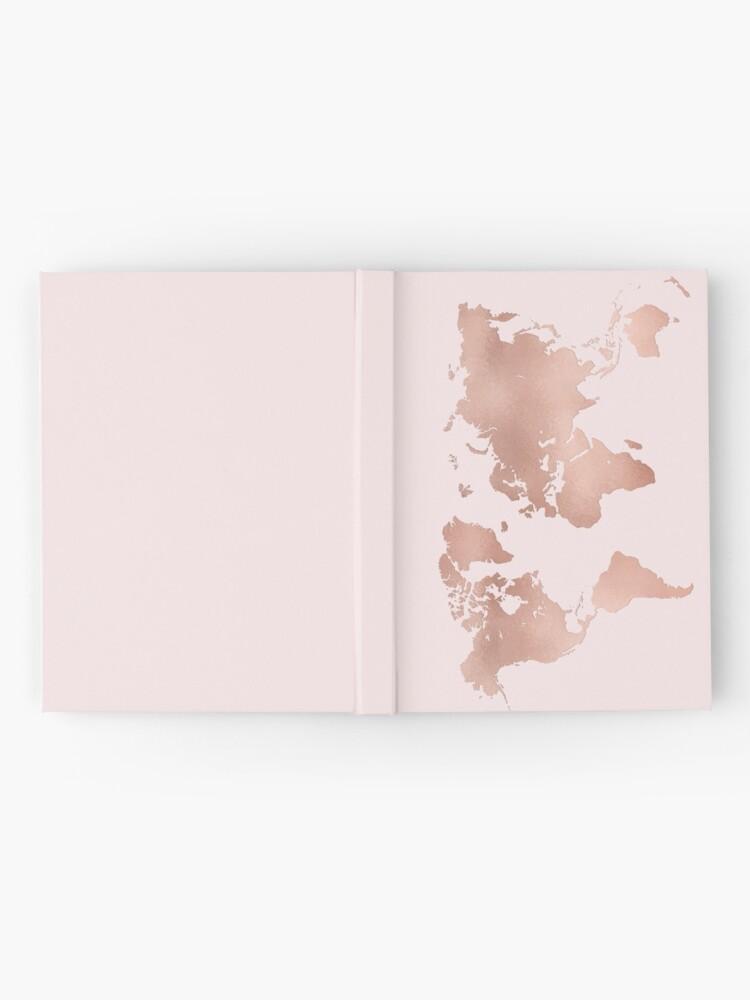 Alternative Ansicht von Rose Gold Weltkarte Notizbuch