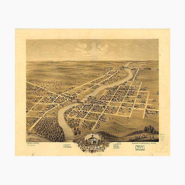 Bird's Eye View of Anoka Minnesota (1869) Photographic Print