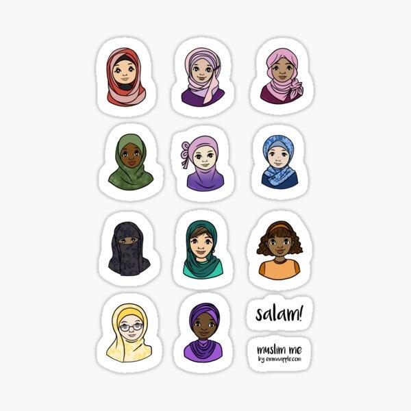 Original Muslim Me Hijabi Cartoons Sticker