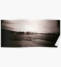 Pin Hole Landscape Poster