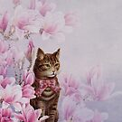 Cat On Flowers  by mimio2009