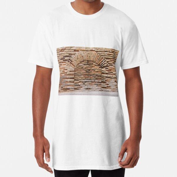 #old, #brick, #architecture, #pattern, #rough, #dirty, #concrete, #tile Long T-Shirt