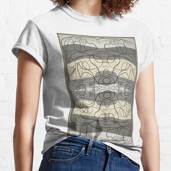 #blackandwhite, #structure, #sketch, #illustration, #vector, #design, #art, #decoration, #pattern, #ornate, #pictureframe Classic T-Shirt
