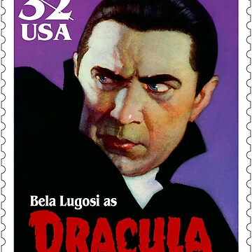 Dracula Universal Monsters USPS stamp  by 16TonPress