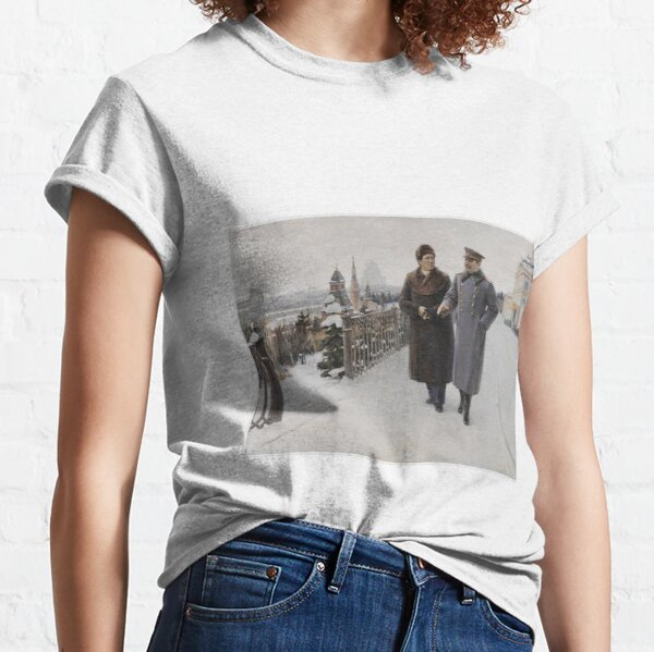 #Stalin #people, #adult, #group, #winter, #snow, #military, #males, #clothing, #men Classic T-Shirt