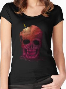 Skull Candle (2) Women's Fitted Scoop T-Shirt